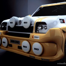 Renault 5, frontal.